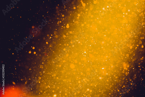 Fototapeta Abstract Gold bokeh for Celebration.Merry Christmas and New Year
