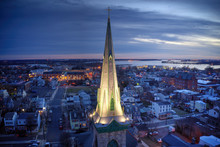 Aerial View Of Church Steeple ...