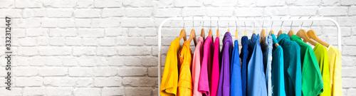 Women's wardrobe sweatshirts shirts and blouses Wallpaper Mural