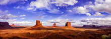 Panorama Of Monument Valley Na...