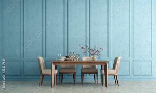 Canvastavla Modern interior design of luxury dining room and wall texture background