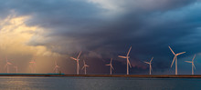 Offshore Wind Farm At Beautifu...