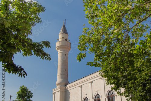 Stampa su Tela Ottoman Turkish style mosque minaret  as Religious Muslim temple architecture