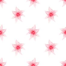 Seamless Pattern Red Watercolo...