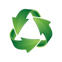 Green 3d Recycle Icon. Recycli...