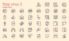 Stop Virus Outline Iconset (pa...