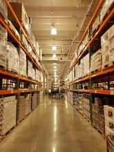 Long Corridor Of Warehouse, Wi...
