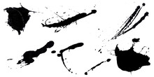 Abstract Ink Black Of Stain Or...