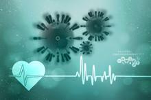 3d Render Corona Virus Disease...