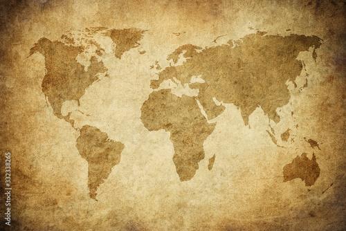 Obraz grunge map of the world - fototapety do salonu