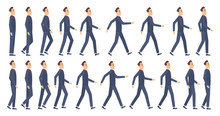 Walking Animation. Business Ch...