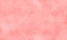 ピンク色の水彩風背景...