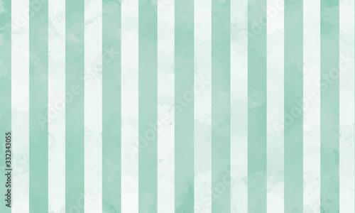 Fotomural 手書き風の緑色ストライプ背景(ベクター)