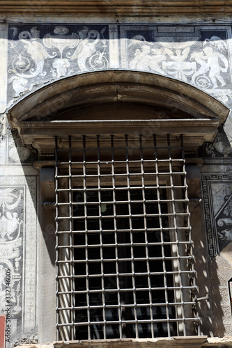 Firenze, Italy - April 21, 2017: Bianca Cappello palace facade and window in Flo Wallpaper Mural