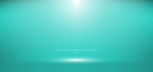 3D Empty Blue Turquoise Studio Room Background With Spotlight On Stage Background