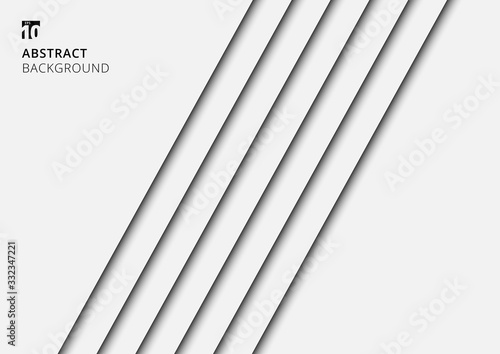 Fotografía Abstract background white stripes lines diagonal with shadow.