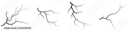 Fotografie, Obraz Ground cracks set