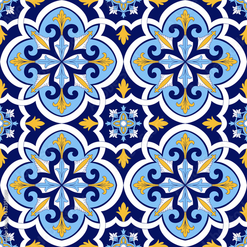 spanish-tile-pattern-vector-seamless-with-floral-motifs-sicily-italian-majolica-portuguese