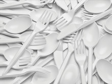 Plastic Cutlery Spoon Fork Knife Utensil Recycling Disposable