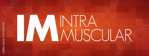 IM - intramuscular acronym, medical concept background Canvas Print