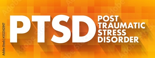 PTSD - Posttraumatic Stress Disorder acronym, medical concept background Canvas Print