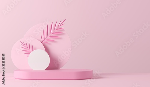 Cuadros en Lienzo Abstract background, mock up scene geometry shape podium for product display