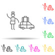 Traveler, car multi color set icon. Simple thin line, outline of travel icons for ui and ux, website or mobile application