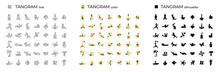 Vector Set Of Tangrams Consist...