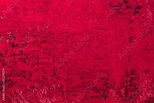 Fototapeta red large holes on retro cover texture - beautiful abstract photo background obraz