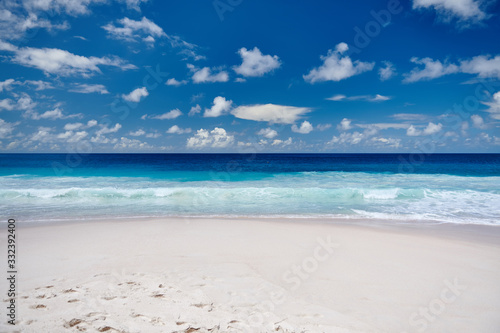 Stampa su Tela Beautiful Anse Intendance beach at Seychelles