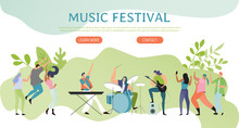 Music Festival Poster, People ...