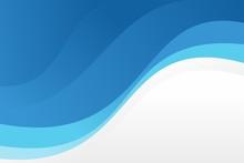 Abstract Stylish Blue Wave Bac...