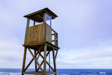 Lifeguard Outpost Tower On Sea...