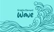 Leinwanddruck Bild - outline wave with sun background Japan style