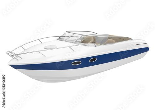 Fotografia Speedboat Isolated