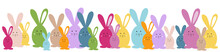 Easter Banner. Easter Bunny Fa...