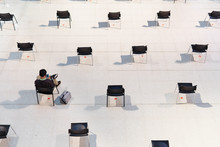 Social Distancing, A Man Sit, ...