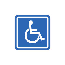 Handicap Signage Vector Wc Invalid Icon. Disable Toilet Access Wheelchair Sign Design