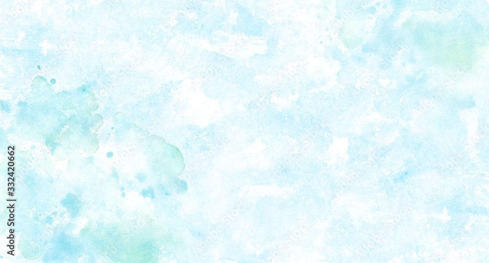 Fototapeta 水のイメージ背景、水彩テクスチャ
