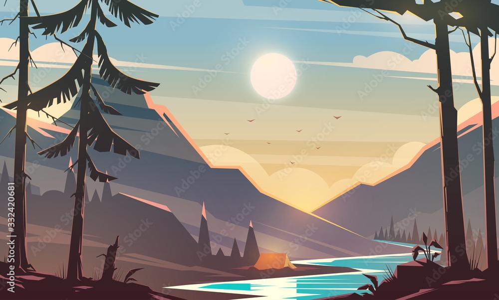 Fototapeta Unbelievable mountain landscape.