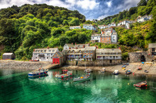 From The Beautiful Fishing Port Of Clovelly In Devon