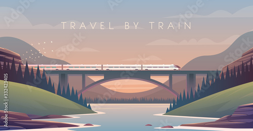 steam locomotive, vacation, mountain landscape, railway, adventure Canvas-taulu