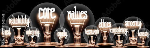 Fotografia Light Bulbs with Event Management Concept