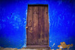 canvas print picture - Beautiful windows or doors in a variety of colors and forms with walls textures and old details.