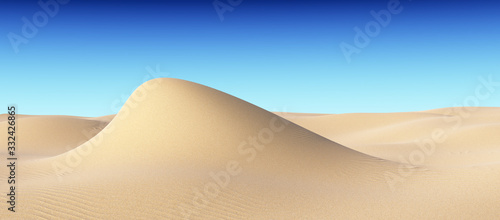 Fototapeta Piasek  smooth-sand-hill-with-waves-under-clear-blue-sky