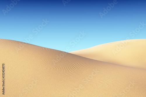 Fototapeta Piasek  smooth-sand-dunes-with-waves-under-blue-sky