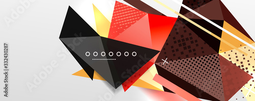 Fototapeta Abstract background - trendy low poly triangle shapes polygonal pattern. Vector Illustration For Wallpaper, Banner, Background, Card, Book Illustration, landing page obraz