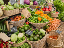 Various Vegetables On Market O...