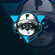 Gamers Mascot Logo Design Vect...