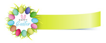 Easter Banner, Colorful Easter...